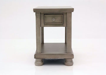 Burnished Gray Lettner End Table by Ashley Furniture Facing Front | Home Furniture Plus Mattress