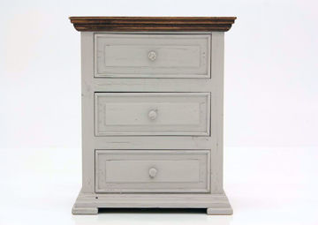 Gray with Brown Lafitte Nightstand by Texas Rustic Facing Front | Home Furniture Plus Mattress