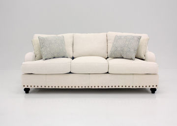 Off White Brinton Sofa by Franklin Facing Front | Home Furniture Plus Mattress