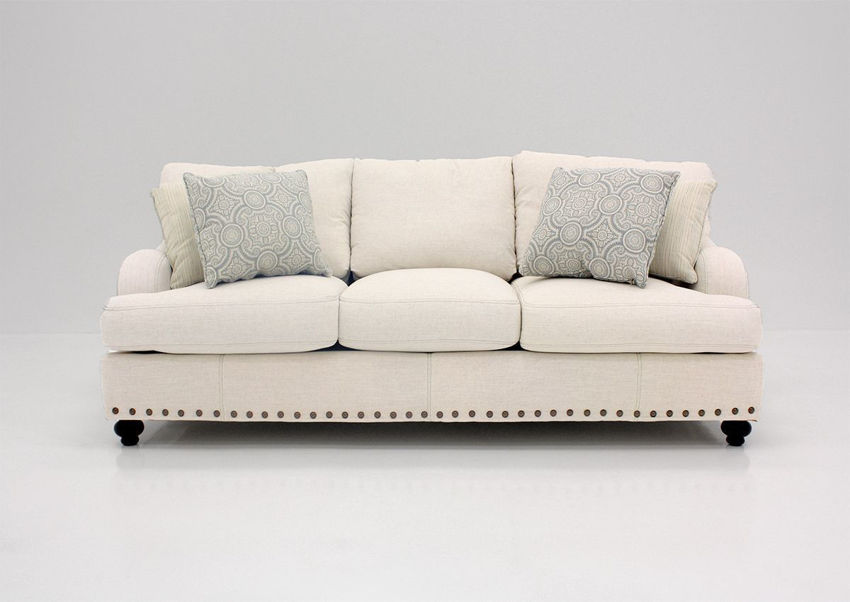Off White Brinton Sofa by Franklin Facing Front | Home Furniture Plus Bedding