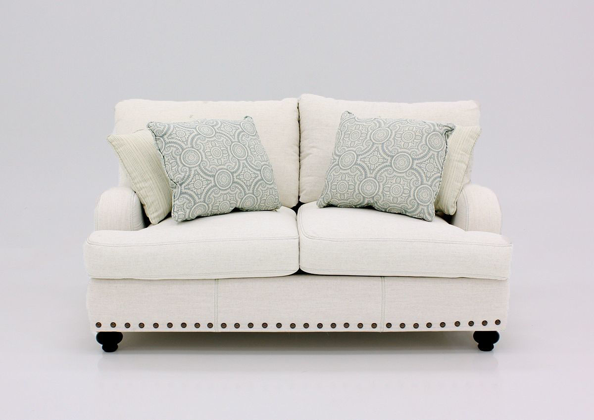 Picture of: Brinton Loveseat Off White Home Furniture Plus Bedding