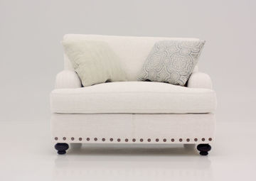 Off White Brinton Chair and a Half by Franklin Facing Front | Home Furniture Plus Mattress