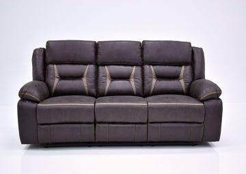 Chocolate Brown Acropolis Reclining Sofa by Standard Facing Front | Home Furniture Plus Mattress