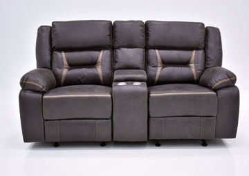 Chocolate Brown Acropolis Reclining Loveseat by Standard Facing Front | Home Furniture Plus Mattress
