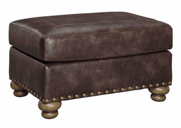 Nicorvo Ottoman by Ashley Covered in Brown Upholstery | Home Furniture Plus Bedding