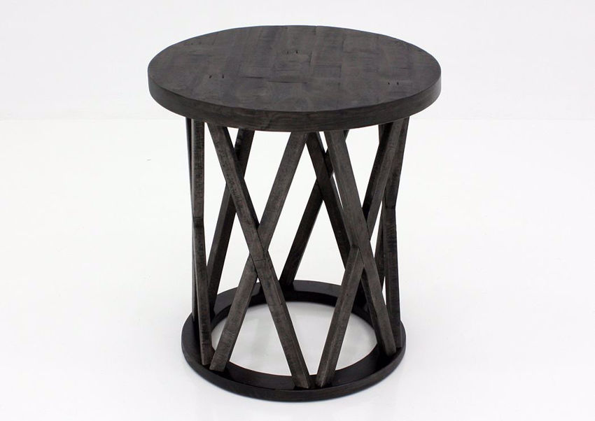 Sharzane End Table by Ashley with Dark Gray Finish | Home Furniture + Bedding
