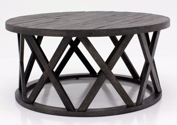 Sharzane Coffee Table by Ashley with Dark Gray Finish | Home Furniture + Bedding