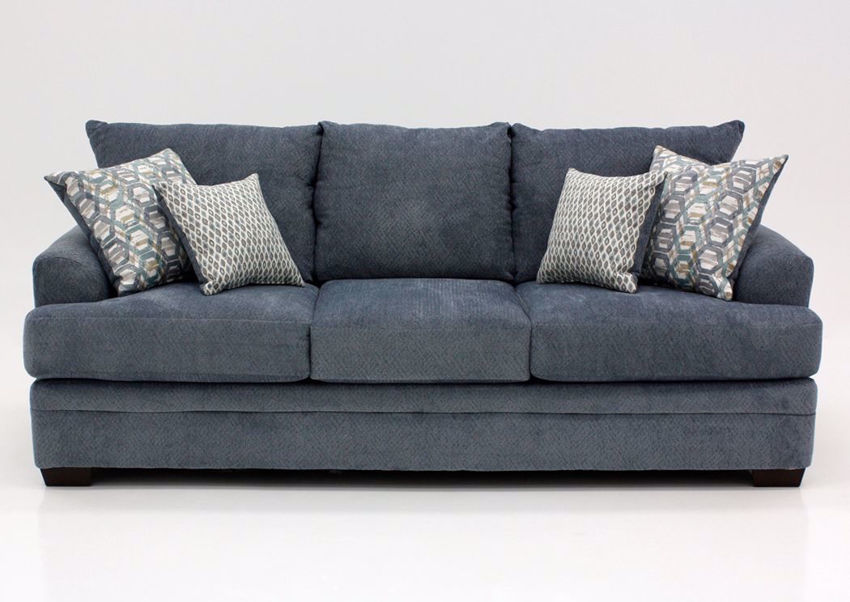 Gray American Sofa by American Furniture Manufacturing Facing Front   Home Furniture Plus Mattress