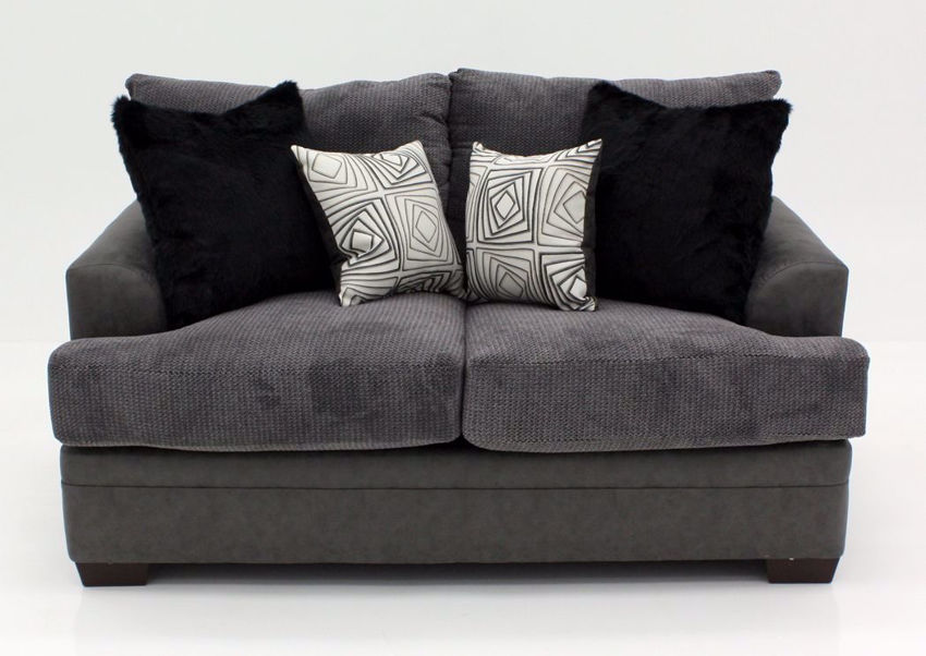 Gray Akan Loveseat, Front Facing | Home Furniture Plus Bedding