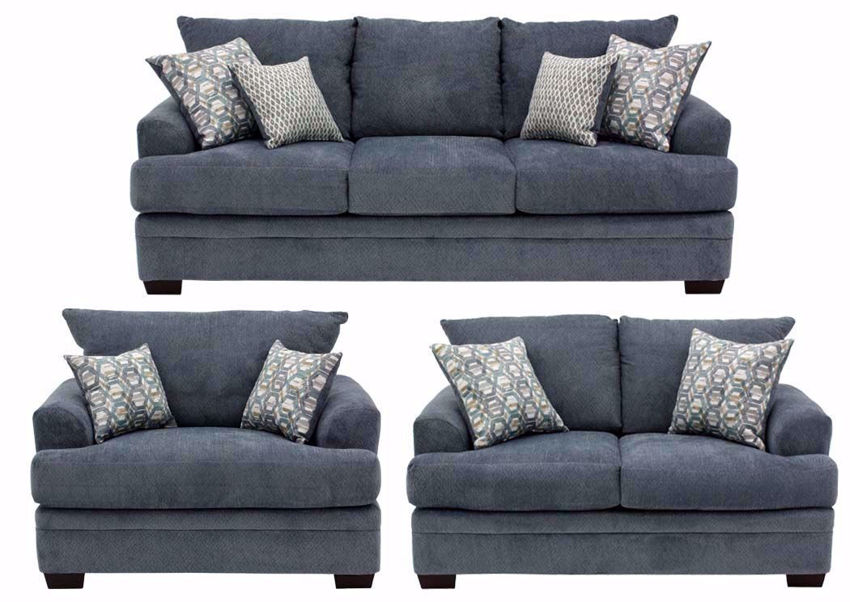 Gray American Sofa Set by American Furniture Manufacturing    Home Furniture Plus Bedding