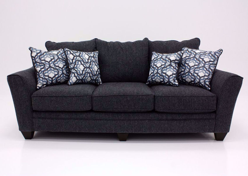 Dark Blue Dante Sofa by Lane, Front Facing | Home Furniture Plus Bedding