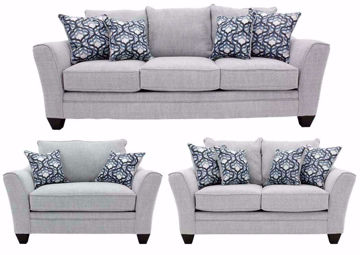 Light Gray Dante Sofa Set by American Furniture Manufacturing Includes Sofa, Loveseat and Chair | Home Furniture + Mattress