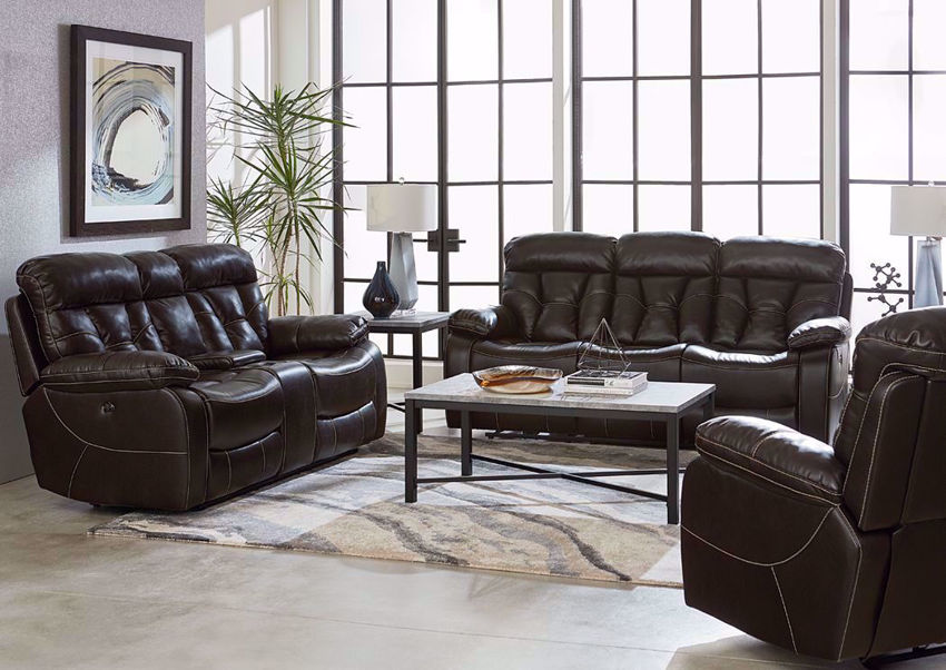 Dark Brown Peoria Living Room by Standard in a Room Setting | Home Furniture Plus Mattress