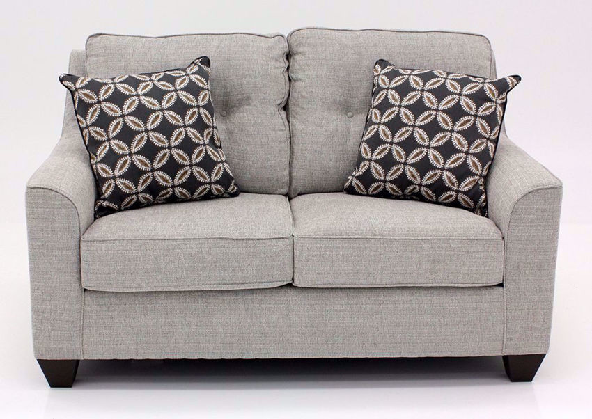 Brown Tweed Dante Loveseat by Lane, Front Facing | Home Furniture Plus Bedding