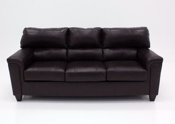Dark Brown Soft Touch Sofa, Front Facing | Home Furniture Plus Bedding