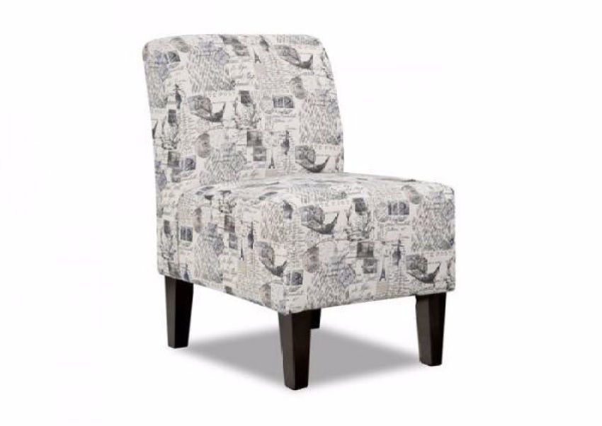 Amore Accent Chair with a Multi-Color Patterned Upholstery at an Angle | Home Furniture Plus Mattress