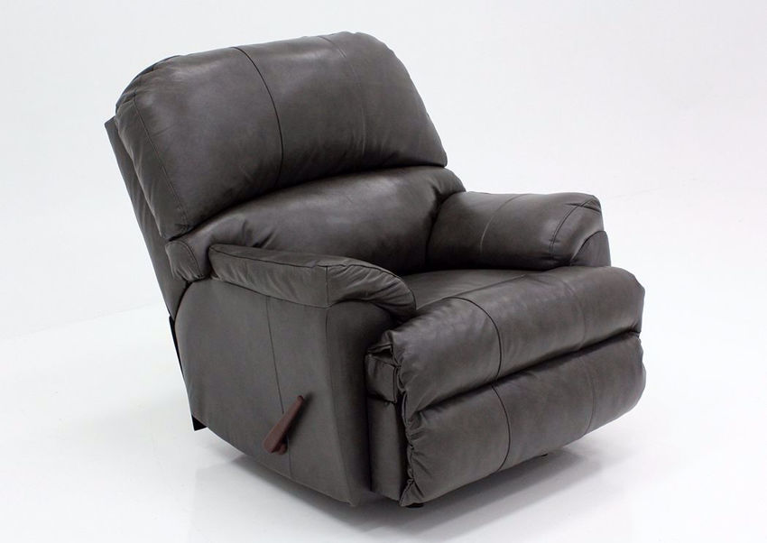 Fog Gray Soft Touch Recliner at an Angle | Home Furniture Plus Bedding