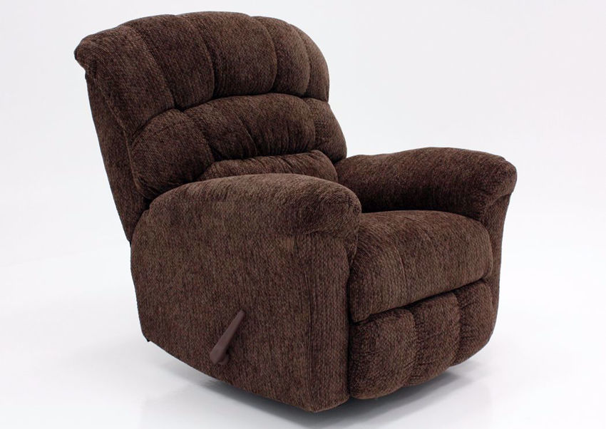 Brown Eastwood Rocker Recliner at an Angle | Home Furniture Plus Mattress
