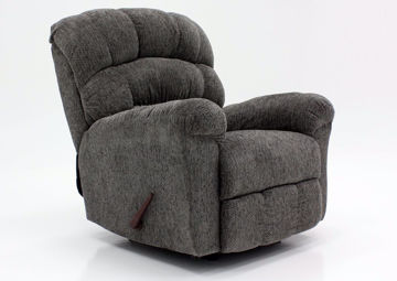 Gray Eastwood Rocker Recliner at an Angle | Home Furniture Plus Mattress