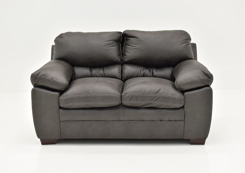 Gray Bolton Loveseat by Simmons Upholstery, Front Facing | Home Furniture Plus Bedding