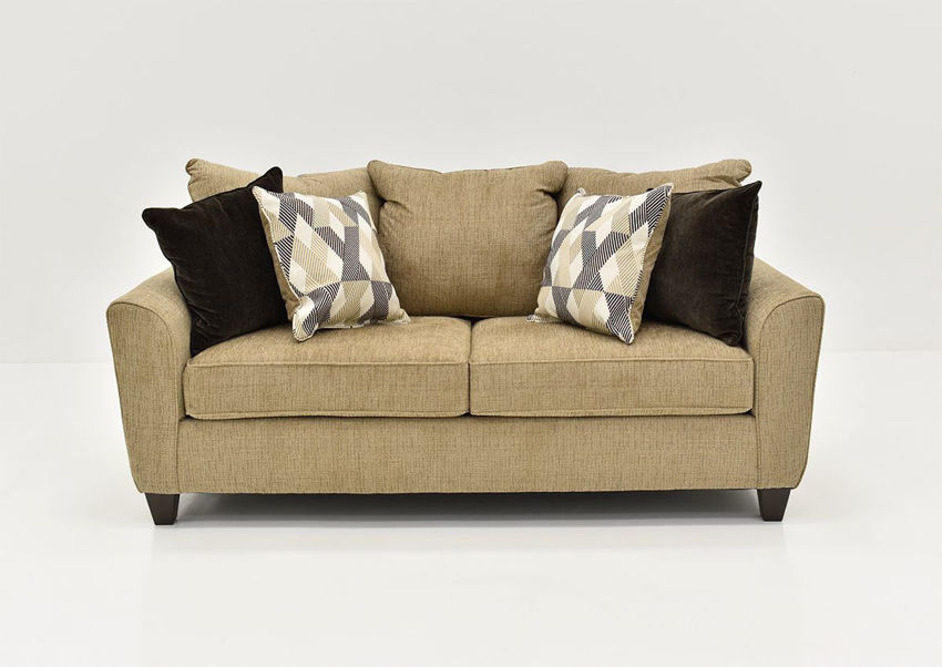 Light Brown Reed Sofa by Lane, Front Facing | Home Furniture Plus Bedding