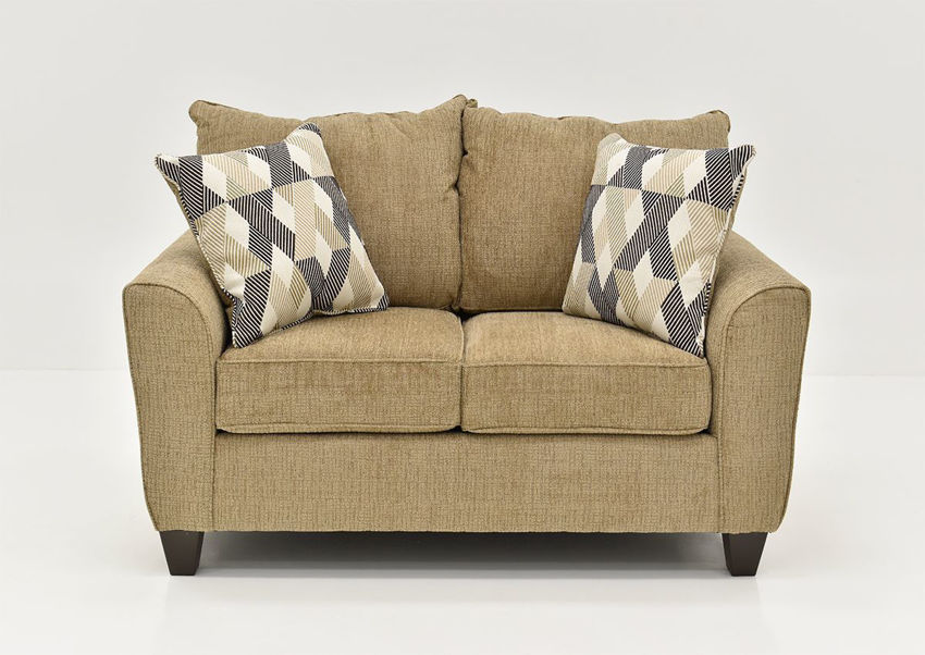 Light Brown Reed Loveseat by Lane, Front Facing | Home Furniture Plus Bedding