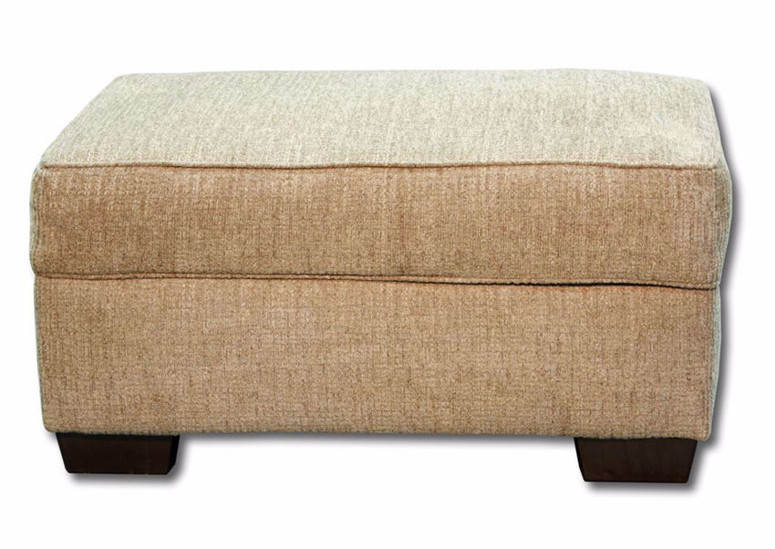 Reed Storage Ottoman, Light Brown, Front Facing | Home Furniture Plus Mattress