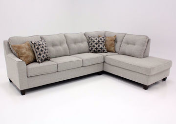 Brown Tweed Dante Sectional Sofa With Chaise by Lane at an Angle | Home Furniture Plus Bedding