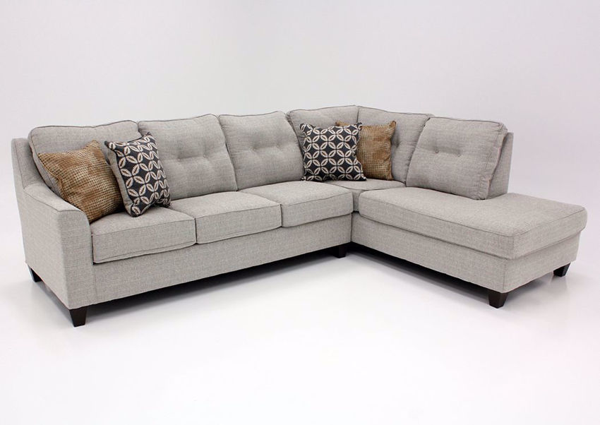 Dante Sectional Sofa With Chaise - Brown Tweed