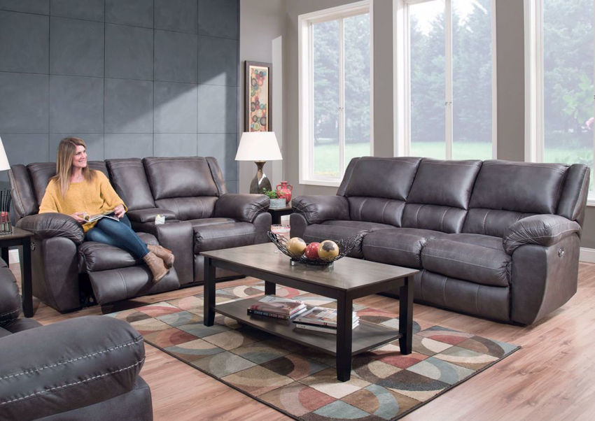 Picture of Shiloh POWER Reclining Sofa Set - Gray