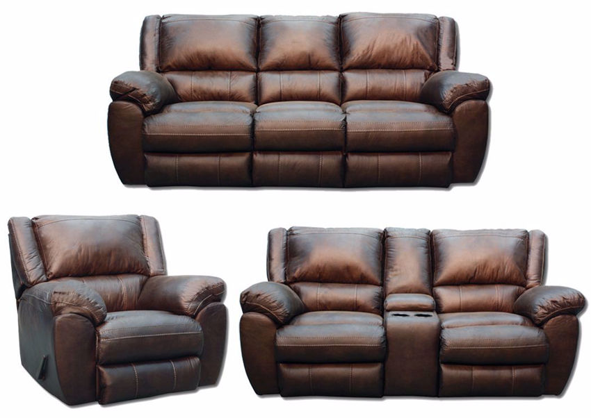 Picture of Shiloh Reclining Sofa Set - Brown