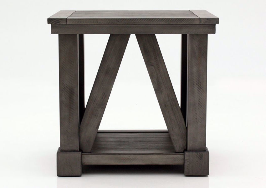 French Gray Old Forge End Table by Simmons Upholstery Facing Front | Home Furniture Plus Mattress