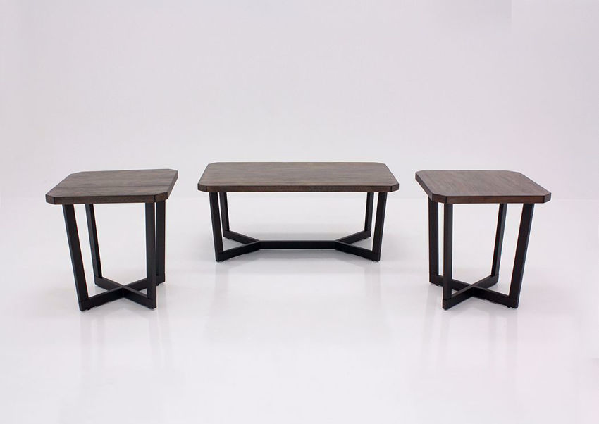 Brown Lane 3 Piece Coffee Table Set by United Facing Front   Home Furniture Plus Mattress