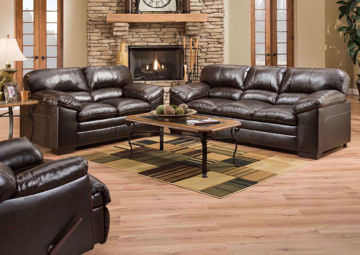 Dark Brown Bingham Sofa Set by Lane in a Room Setting | Home Furniture Plus Bedding