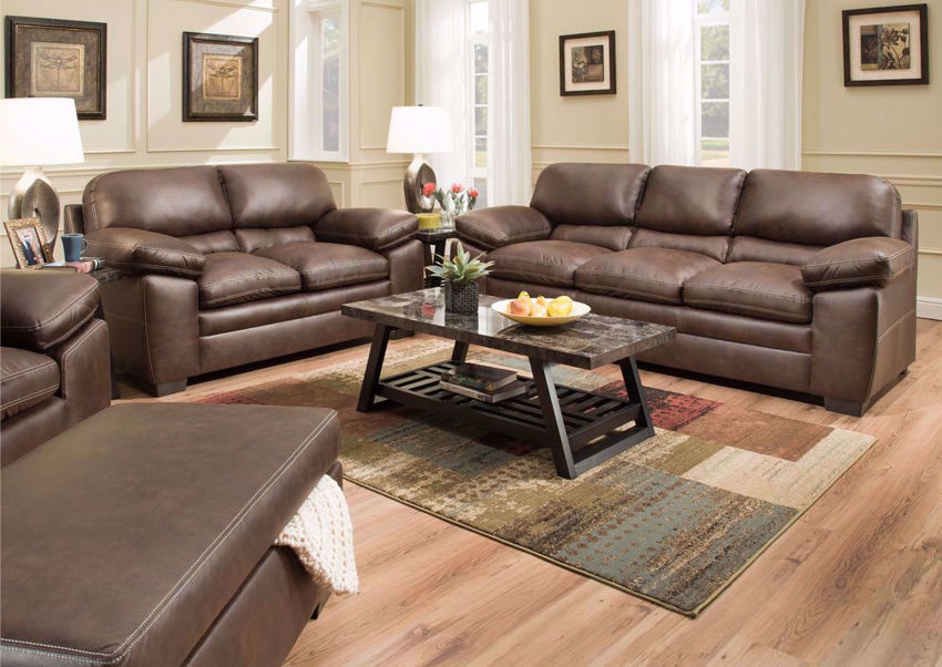 Bolton Sofa Set in Brown | Home Furniture Plus Bedding