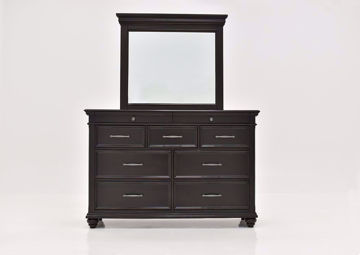 Dark Brown Brynhurst Dresser with Mirror by Ashley Furniture Facing Front | Home Furniture Plus Mattress