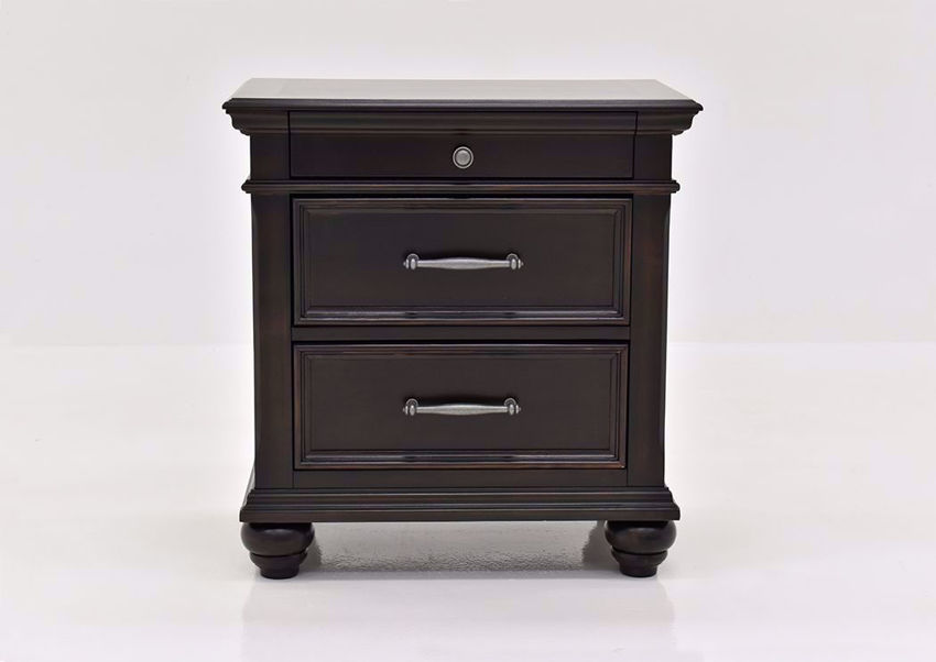 Dark Brown Brynhurst Nightstand by Ashley Furniture Facing Front | Home Furniture Plus Mattress