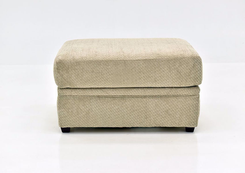 Beige Bellamy Ottoman by Simmons Upholstery Facing Front   Home Furniture Plus Mattress
