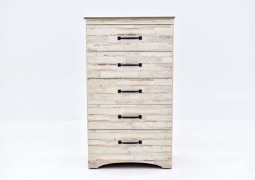 Rustic White Jourdan Creek Chest of Drawers by Kith Facing Front | Home Furniture Plus Mattress