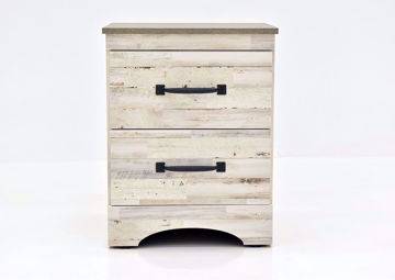 Rustic White Jourdan Creek Nightstand by Kith Facing Front | Home Furniture Plus Mattress