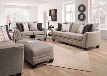 Gray Springer Sofa Set  by Franklin in a room setting | Home Furniture Plus Bedding