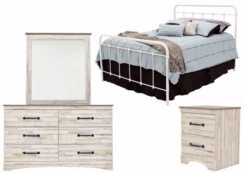 Rustic White Jourdan Creek Bedroom Set by Kith Showing the Group | Home Furniture Plus Mattress