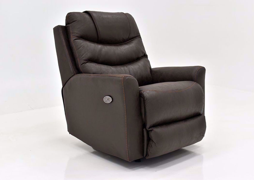 Coffee Brown Barnette Power Rocker Recliner by Lane at an Angle | Home Furniture Plus Mattress