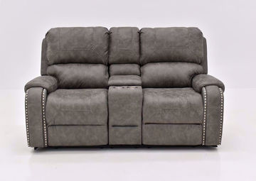 Warm Gray Clayton Reclining Loveseat by Standard Facing Front | Home Furniture Plus Mattress