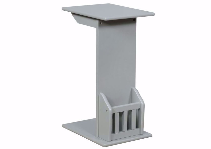 Gray Barnet Chair Side End Table by Crownmark at an Angle | Home Furniture Plus Mattress