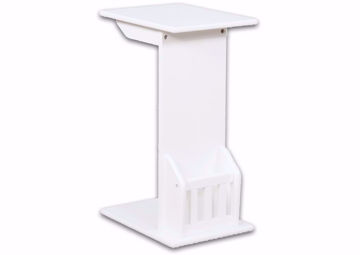 White Barnet Chair Side End Table by Crownmark at an Angle | Home Furniture Plus Mattress