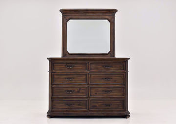 Hickory Brown Casa Grande Dresser with Mirror by Lane Furnishings Facing Front | Home Furniture Plus Mattress