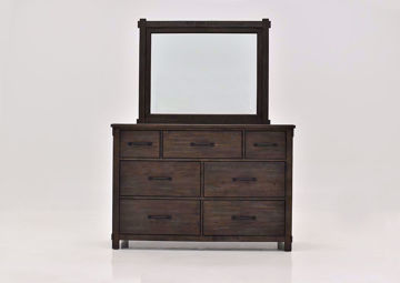 Dark Brown Scott Dresser with Mirror Facing Front | Home Furniture Plus Mattress