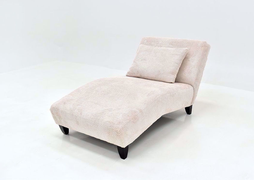 Off White Davos Chaise Lounge Chair by Chairs America at an Angle | Home Furniture Plus Mattress