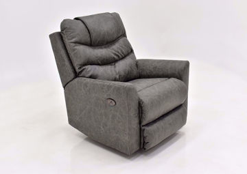 Slate Gray Barnette Power Rocker Recliner by Lane at an Angle | Home Furniture Plus Mattress